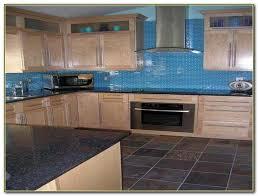 blue glass tiles for kitchen backsplash tiles home decorating