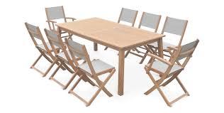 Ikea Salon De Jardin En Resine Tressee by Table De Jardin Eucalyptus Et Aluminium Phil Barbato Jardin