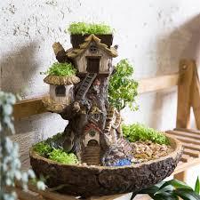 modern balcony planters modern fairy garden miniature stump resin flower pot cartoon