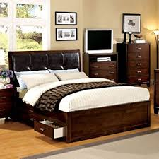 King Bed Frame With Drawers Amazon Com Camarillo Storage Panel Bed Size California King