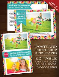 rainbow chevron postcard template faire li