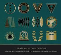 Art Deco Design Epic Art Deco Bundle 2 Vector Templates And Tools
