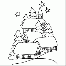 incredible winter landscape coloring pages with winter coloring