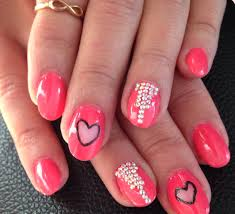 nail art designs by hand fashion fobia hands with nail art stock