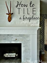 how to tile a fireplace surround over stone or brick great tips to make it