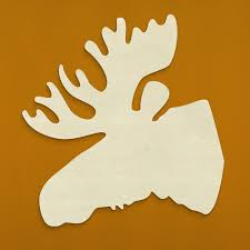 unfinishedwoodco moose head silhouette