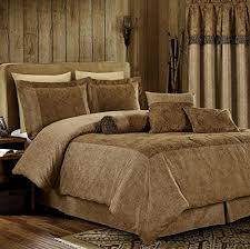 Microsuede Duvet Cover Queen Chezmoi Collection Yosemite 7 Pieces 2 Tone Brown Paisley Floral
