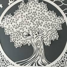 papercut ketubah tree of life with arabesque trellis papercuts