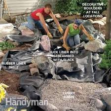 Water Features Backyard by Build A Backyard Waterfall And Stream Family Handyman