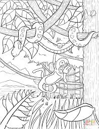 free coloring page of the rainforest tropical rainforest coloring pages rainforest coloring page free