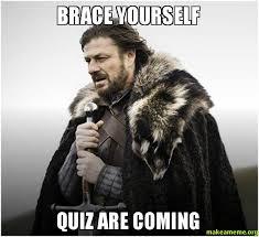 Meme Quiz - brace yourself quiz are coming make a meme