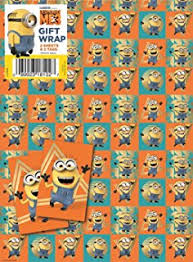 minion wrapping paper despicable me minion large gift bag co uk office products