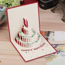 1pc exquisite 3d pop up greeting card kirigami happy birthday