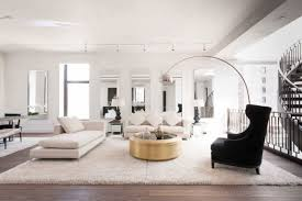 contemporary but luxurious penthouse seating area interior with