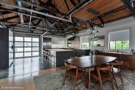 kitchen floor concrete floors aluminium bar stools gray kitchen concrete floors aluminium bar stools gray kitchen island base hanging pendant lights brown wooden dining table and chairs industrial kitchen design