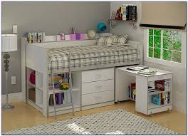 Storage Loft Bed With Desk Loft Bed With Desk And Storage Multicolor Circular Pattern Loft