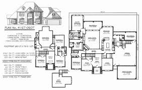 5 bedroom 1 story house plans beautiful one story house plans 4500 square house plan