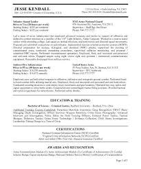 infantryman resume military trainer cover letter resume examples