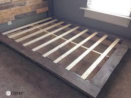 Slatted Bed Frames Slatted Platform Bed Brilliant Easy Diy Platform Bed Shanty 2 Chic