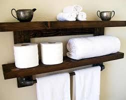 Bathroom Shelves For Towels Floating Shelves Towel Rack Floating Shelf Wall Shelf Wood