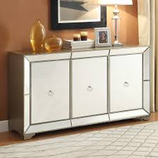 powell furniture 14bo8083cc bombay monterey mirrored sideboard in