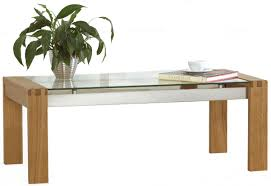 Wood And Glass Coffee Table Designs Solid Oak Coffee Table With Glass Top Best Gallery Of Tables