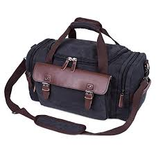 travel duffel bags images Canvas leather oversized duffle travel duffel bag weekend bag for jpg
