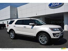 Ford Explorer White - 2017 white platinum ford explorer limited 115273054 gtcarlot