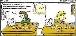 dessin humoristique travail bureau montségur au coin des temps