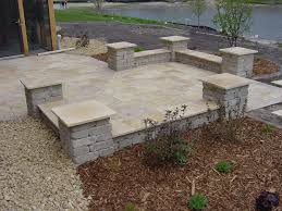 Rock Patio Designs Landscape Simple Landscaping Rock Wall Patio How To Choose Types