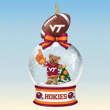 virginia tech hokies snow globe ornaments the danbury mint