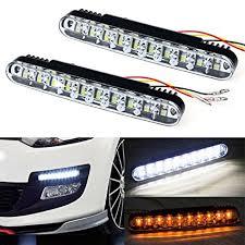 amazon led auto lights amazon com fullkang 2x 30 led car daytime running light drl