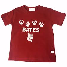 toddler bobcat and paws t shirt bates college store