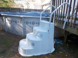 wedding cake pool steps above ground wedding cake style pool steps with handrail pool in