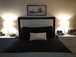 Ideas For Headboards by Bedroom Dark Brown And White Fabric Headboards White Bedside