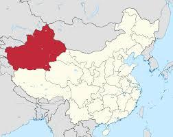 Great Wall Of China On Map by Xinjiang Wikipedia