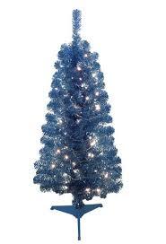 cheer 4 foot noble pine pre lit christmas tree blue toys
