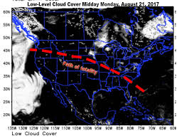 World Cloud Map by Solar Eclipse Cloud Forecast Shows Where Eclipse Viewing In