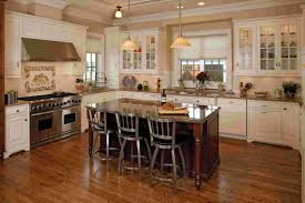 charming kitchen country design ideas with dark brown and white beautiful kitchen design ideas with having white finish varnished wooden island also stainless steel range mocrowave