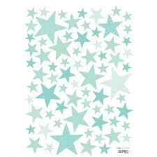 stickers étoile chambre bébé sticker enfant etoiles vert menthe lilipinso ma chambramoi