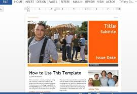 templates for word newsletters professional newsletter template for word
