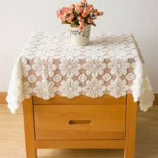 Cheap Table Linen by Hollow Out Thicker Flower Lace Tablecloths Polyester Table Linens