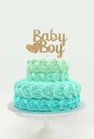 blue ombre buttercream roses cake for beach wedding shower cakes