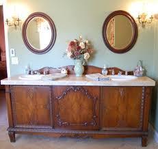 Bathroom Vanity Hutch Cabinets by Converted Hutch Sink Vanity Bathroom Farmhouse With Widespread