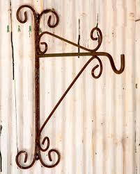 wrought iron plant hook wall bracket gardening pinterest