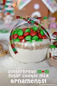 gingerbread m u0026m mix ornaments sugar cookie mix and cocoa mix