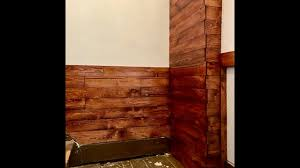 Wooden Wall Panels by Easy Diy Reclaimed Wood Wall Panels Youtube