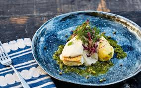pan seared cod with olive oil mash and tonnato