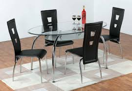 glass oval dining table and chairs home and furniture