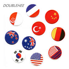 Thailand Round Flag Doublehee 20 Countries Round Flags Embroidered Iron On Patches Us